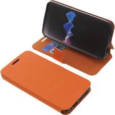 Funda para Homtom ht37 Book Style protectora Teléfono móvil estilo libro naranja