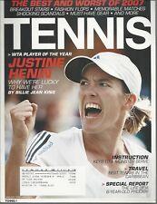 TENNIS~JANUARY 2008~WTA PLAYER OF THE YEAR~ JUSTINE HENIN~ COMPLETE MAGAZINE