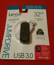 Lexar Jumpdrive S33 32GB, New Sealed USB 3.0- Assorted Colors(Note ).