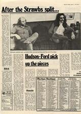 Hudson-Ford Strawbs Pick up the pieces MM3 Interview 1973