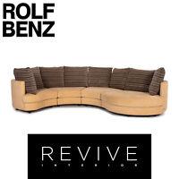 Rolf Benz Stoff Ecksofa Beige Gemustert Sofa Couch #14259