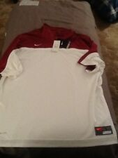 Nike cardinal and white short sleeve shooter/warm up shirt, mens large, nwt,