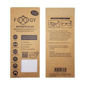 FOOGY Antibeschlag Microfaser Brillentuch | trockenes Reinigungs-Tuch |
