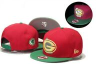 Green Bay Packers New Era 9Fifty Red Green  Adjustable Snapback Hat Cap