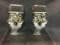 Volkswagen VW/PORSCHE Dellorto DRLA 36 Dual Throat CARBURETORS With Intakes