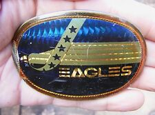 Vtg EAGLES Belt Buckle 1978 Pacifica ROCK BAND Music Concert Album ART RARE VG