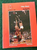 Ohio State Vs Colgate 1980 Basketball Program. Clark Kellogg