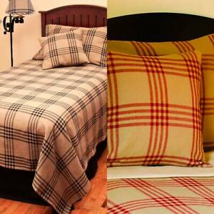 Chesterfield Check Bedcover Twin Queen Red or Black