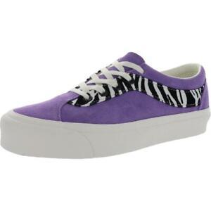 Vans Bold Ni Women's Suede Zebra Print Lace Up Low Top Sneakers