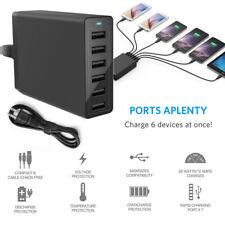 Multi Port USB Charger Adapter 12A 60W Fast Charging Station Desktop Hub UK