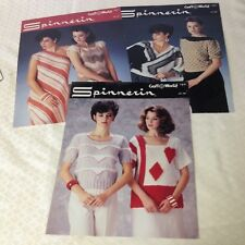 3 Spinnerin Knitting/Crocheting pattern 6  designs Evening Sweaters, Chemise