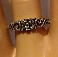 925 Sterling Silver Ring Infinity Rose Celtic Band Flower Knuckle New Size 5 p49