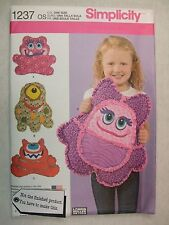 Rag Quilted Monster Pillows Sewing Pattern Simplicity 1237 See Full Listing