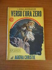 VERSO L'ORA ZERO - AGATHA CHRISTIE - I GIALLI MONDADORI n.187 - 1952 - sc.1