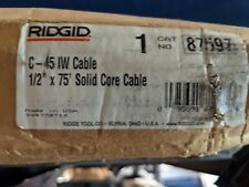 Ridgid C 45 12 In X 75 Ft Integral Wound Solid Core Drain Cleaning Cable