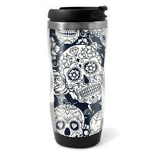 Sugar Skulls Travel Mug Flask - 330ml Coffee Tea Kids Car Gift #8524