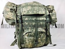 MINT Molle II Large Rucksack Fieldpack Complete + 2 Molle Pouches US military