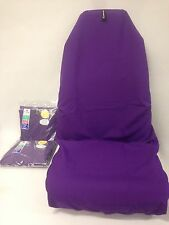 2 x Plain Purple Oz made Premium Quality Genuine AXS Throwover Car Seat Covers