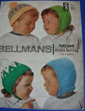Bellmans Child's hats Knitting Pattern 530