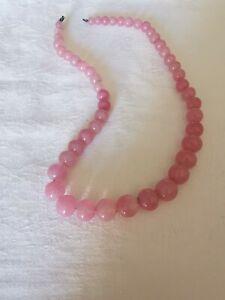 Vintage Rose Quartz Necklace *Clasp Needs Attention*
