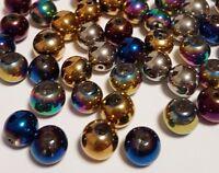 70 Kristallschliffperlen 4mm Mix Galvanisierte Electroplated Perlen Rund R44