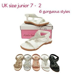 Girls Kids Sandals Shoes Summer Strappy Beach Pool Pink Silver Gold 24 - 35 BNWT