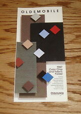 Original 1987 Oldsmobile Color Chip & Fabric Folder Brochure 87 Cutlass Firenza