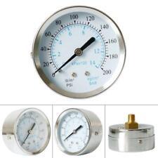 """1/8"""" NPT 0-200 PSI Air Pressure Gauge Back Rear Mount 63mm 2.5"""" Face 0-14kg/cm2"""