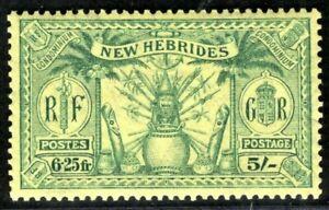 NEW HEBRIDES British KGV Stamp 5s Mint MM 1925 CBLUE89