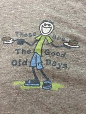 Life Is Good Men's These are the Good Old Days S/S Gray Shirt M Medium A3-8