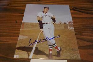 TED WILLIAMS 8x10 AUTO (Autograph) w/COA Boston Red Sox Vintage HOF Photo