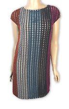 Marco de Vincenzo New Sz 4 Cotton Multicolor Shift Dress $1795 Cap Sleeve
