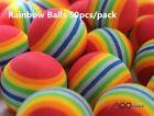 A99 Golf Rainbow Foam balls Practice Ball Floating Water Fun Indoor Outdoor Lot