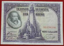 España 100 pesetas billete Don Quijote 1928 P 76 A