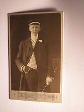 Darmstadt - Wingolf - Couleurbild eines Paul Zorn ??? um 1900 - CDV / Studentika