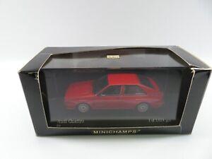 Minichamps 1:43 430019420 Audi Quattro 1981 rot limitiert OVP #3639