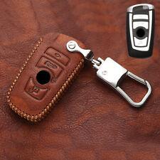 Leather Car Smart Key Case Key Bag 1pcs For BMW X3 F25 11-16 / X4 F26 14-17