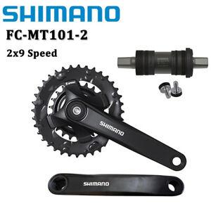 Shimano FC-MT101 2x9 Speed MTB Bike Crankset With Bottom Bracket 170MM 22-36T