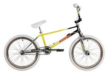 Haro 2017 Lineage Team Master 1987 Old School Retro BMX Bike Black/Yellow/Chrome