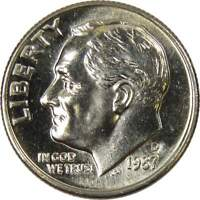 1987 D 10c Roosevelt Dime US Coin Uncirculated Mint State