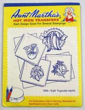 Aunt Martha's Hot Iron Transfers 3286 ~ Eight Vegetable Motifs