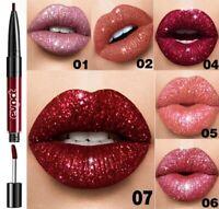 2in1 Lippenstift Matte Lipliner Wasserfest Lipstick Waterproof Farbe 01#