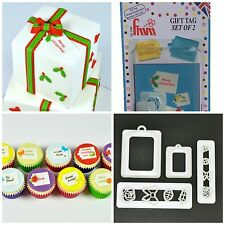 FMM Gift Tag Cutters set of 2 Sugarcraft cake decorating    Next Day Despatch