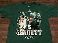 Kevin Garnett Boston Celtics NBA adidas Small Green T Shirt