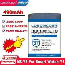 LOSONCOER 490mAh AB-Y1 Battery for Smart Watch Y1 Watch Bluetooth Watch Phone RX