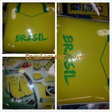 11pc BRASIL Futbol Soccer Team Car Seat Steering Wheel Cover Set 11pc