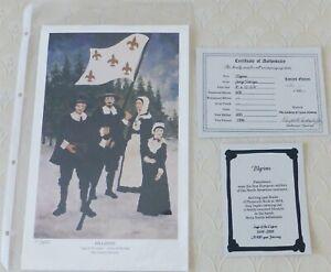 Rodrigue Pilgrims Saga of Cajuns 11/600 LtEd COA 8x12.5 Fleur de Lis Nova Scotia