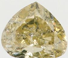 Natural Loose Diamond Yellow Color Heart I1 Clarity 3.50 MM 0.14 Ct KR871