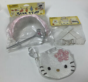 Build A Bear Tiara & Wand , Necklace And Hello Kitty Purse Lot