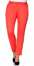 Sheego Mujer Pantalones Chinos Pantalón Stretch coral rojo talla corta 25 812177